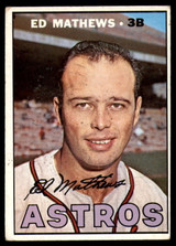 1967 Topps #166 Ed Eddie Mathews Astros VG