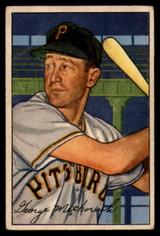 1952 Bowman #108 George Metkovich VG Very Good