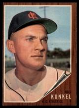 1962 Topps #147 Bill Kunkel Athletics Near Mint NM