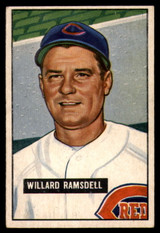 1951 Bowman #251 Willard Ramsdell EX Ink On Back RC Rookie