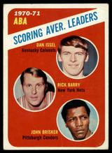 1971-72 Topps #147 Dan Issel/Rick Barry/John Brisker Scoring Average Leaders VG ID: 77935