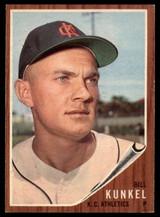 1962 Topps #147 Bill Kunkel Athletics EX/Mint