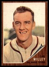 1962 #174 Carl Willey Braves EX/Mint