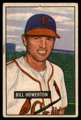 1951 Bowman #229 Bill Howerton G