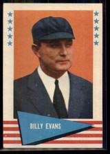 1961 Fleer #22 Billy Evans UMP NM+ ID: 50856