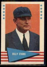 1961 Fleer #22 Billy Evans UMP NM+ ID: 50857