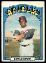 1972 Topps #100 Frank Robinson VG  ID: 89633