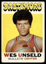 1971-72 Topps #95 Wes Unseld DP VG ID: 77912