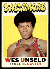 1971-72 Topps #95 Wes Unseld DP VG ID: 77913