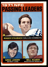 1972 Topps #4 NFC Passing Leaders Roger Staubach EX