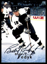 1995-96 Be A Player #S100 Brent Fedyk Auto Signed Stars