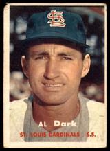 1957 Topps #98 Alvin Dark UER G/VG ID: 60213