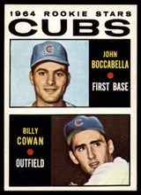 1964 Topps #192 John Boccabella/Billy Cowan Cubs Rookies EX/NM RC Rookie ID: 82514
