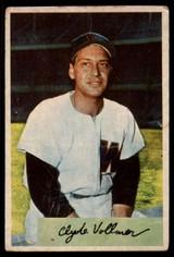 1954 Bowman #136 Clyde Vollmer G ID: 56175