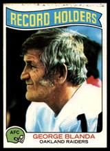 1975 Topps #351 George Blanda RB EX/NM