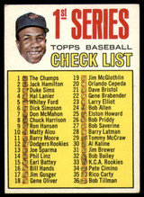 1967 #62 1st Series Checklist Frank Robinson VG/EX Marked ID: 85624