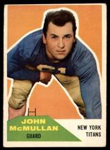 1960 Fleer #103 John McMullan EX++