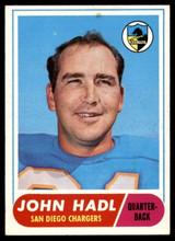 1968 Topps #63 John Hadl EX/NM  ID: 91029