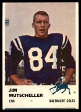 1961 Fleer #34 Jim Mutscheller EX