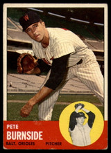 1963 Topps #19 Pete Burnside EX Excellent