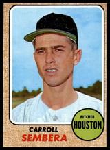 1968 Topps #207 Carroll Sembera NM Near Mint  ID: 98591