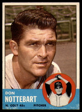 1963 Topps #204 Don Nottebart VG Very Good