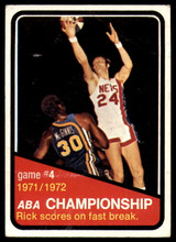 1972-73 Topps #244 ABA Playoffs Game 4 VG