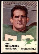1961 Fleer #58 Jesse Richardson VG/EX