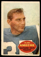 1960 Topps #2 Alan Ameche EX ID: 74021
