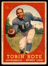 1958 Topps #94 Tobin Rote VG ID: 73813