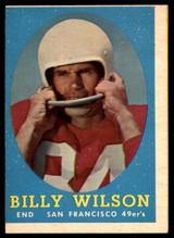 1958 Topps #95 Billy Wilson VG ID: 73817