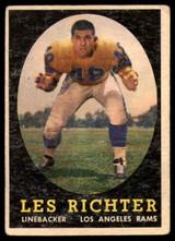 1958 Topps #105 Les Richter VG ID: 73845