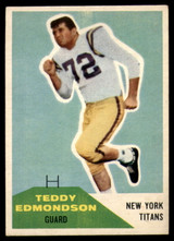 1960 Fleer #91 Teddy Edmondson VG