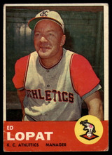 1963 Topps #23 Ed Lopat MG VG Very Good