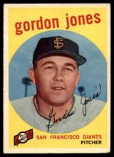 1959 Topps #458 Gordon Jones G/VG ID: 69615
