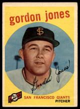 1959 Topps #458 Gordon Jones G/VG ID: 69616