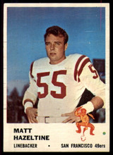 1961 Fleer #66 Matt Hazeltine VG