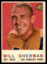 1959 Topps #127 Will Sherman EX++