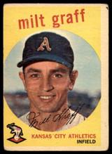 1959 Topps #182 Milt Graff EX ID: 66922