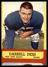 1963 Topps #54 Darrell Dess G SP
