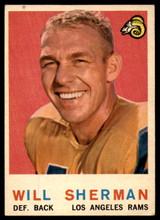 1959 Topps #127 Will Sherman VG  ID: 81711