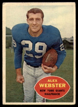 1960 Topps #75 Alex Webster VG ID: 74221