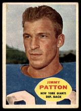 1960 Topps #79 Jim Patton VG ID: 74227