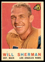 1959 Topps #127 Will Sherman VG ID: 73982