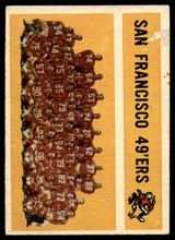 1960 Topps #122 49ers Team P