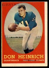 1958 Topps #83 Don Heinrich P