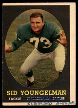 1958 Topps #24 Sid Youngelman UER P