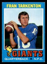 1971 Topps #120 Fran Tarkenton Excellent+  ID: 301289