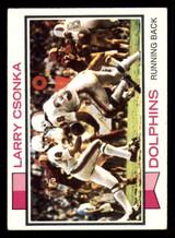 1973 Topps #100 Larry Csonka Excellent  ID: 301422