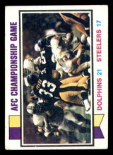 1973 Topps #138 1972 AFC Championship Game Very Good